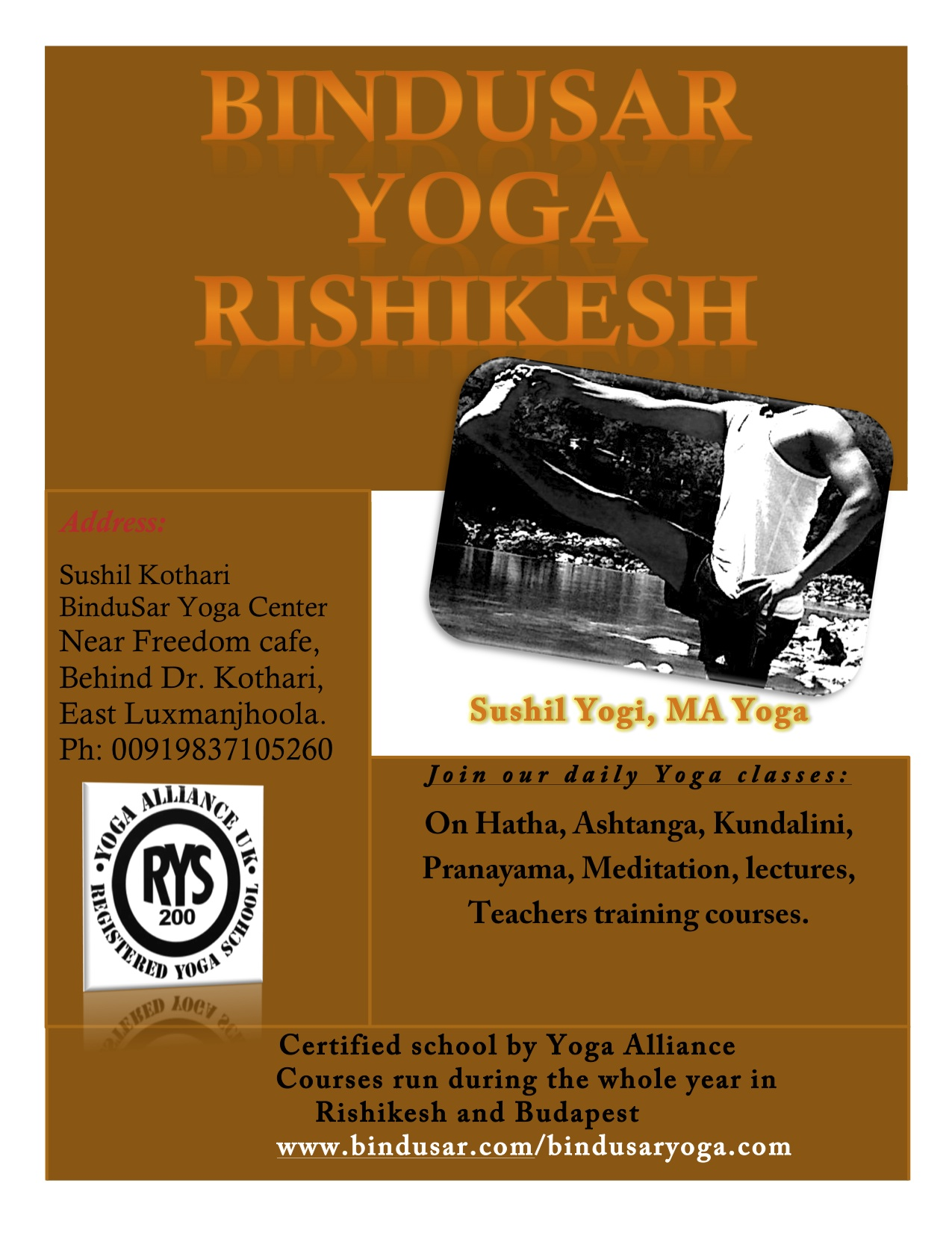 BinduSar Yoga Rishikesh   From Authentic Sources
